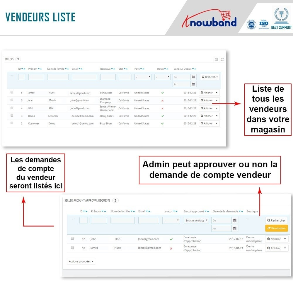 module - Création de Marketplace - Knowband - Multi Vendor Marketplace - 15