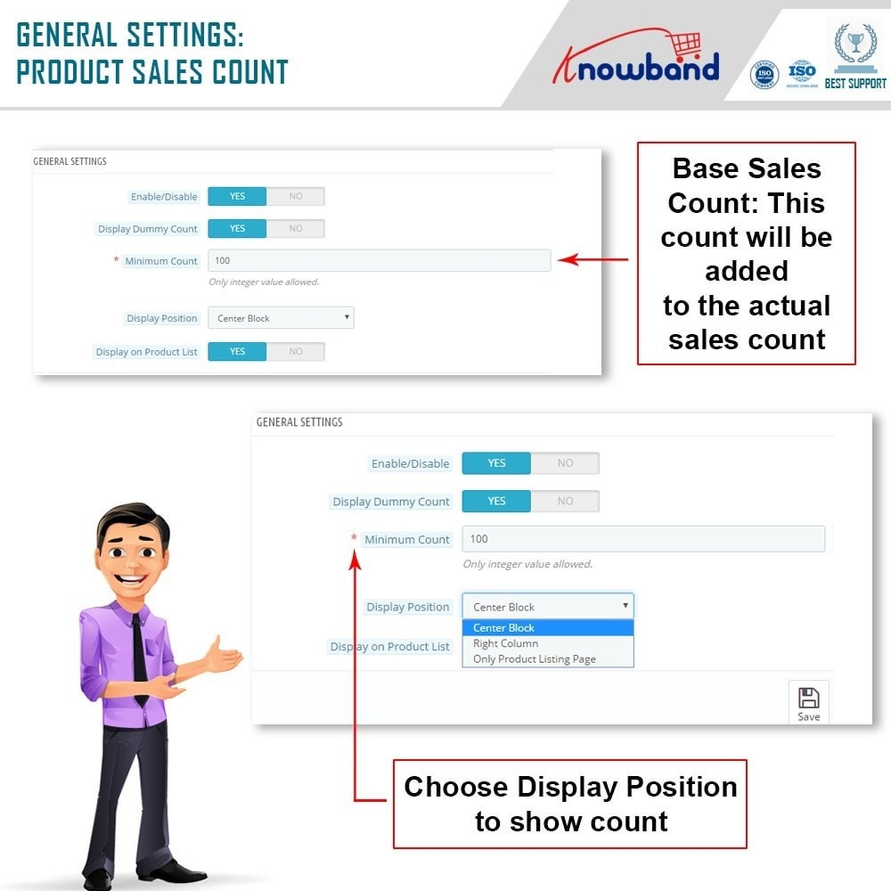 module - Zusatzinformationen & Produkt-Tabs - Knowband - Product Sales Count - 5