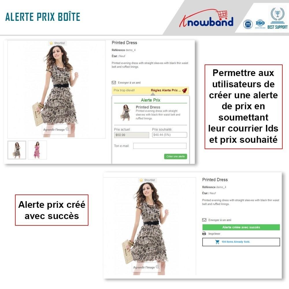 module - Gestion des Prix - Knowband - Alerte de Prix - Notification des clients - 3