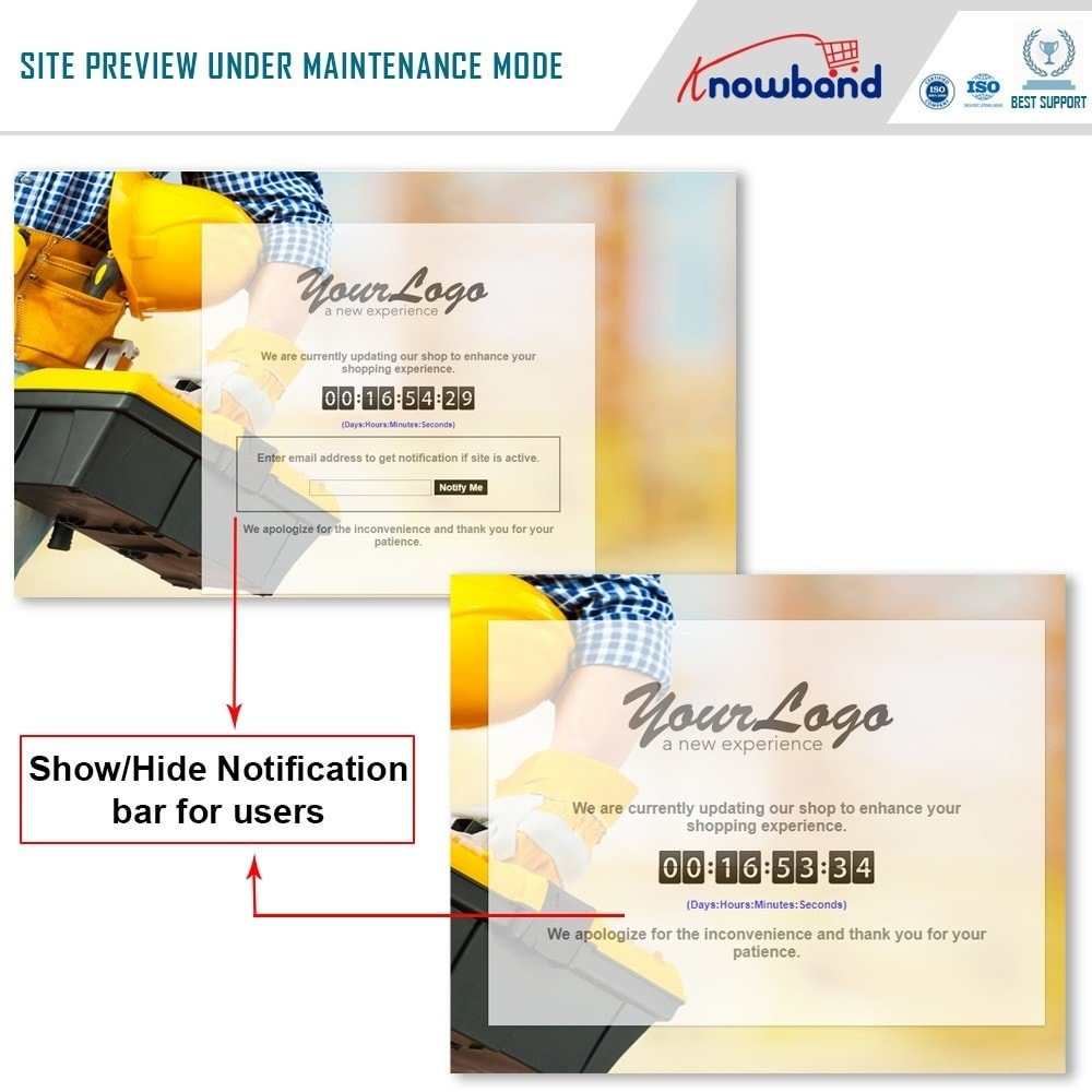 module - Personalisering van pagina's - Knowband - Maintenance Page Customizer - 2