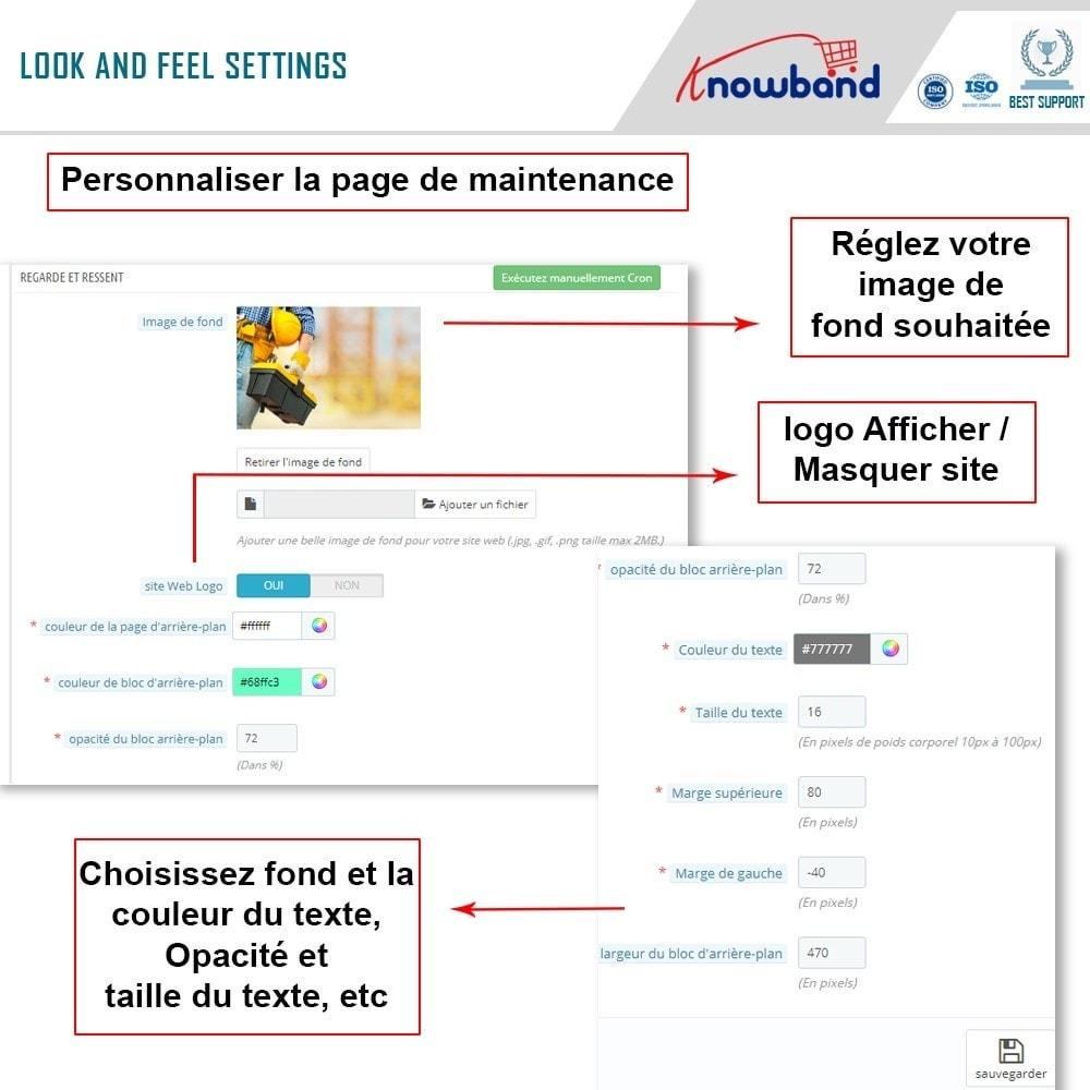 module - Personnalisation de Page - Knowband - Personnalisation de la  Page de Maintenance - 7