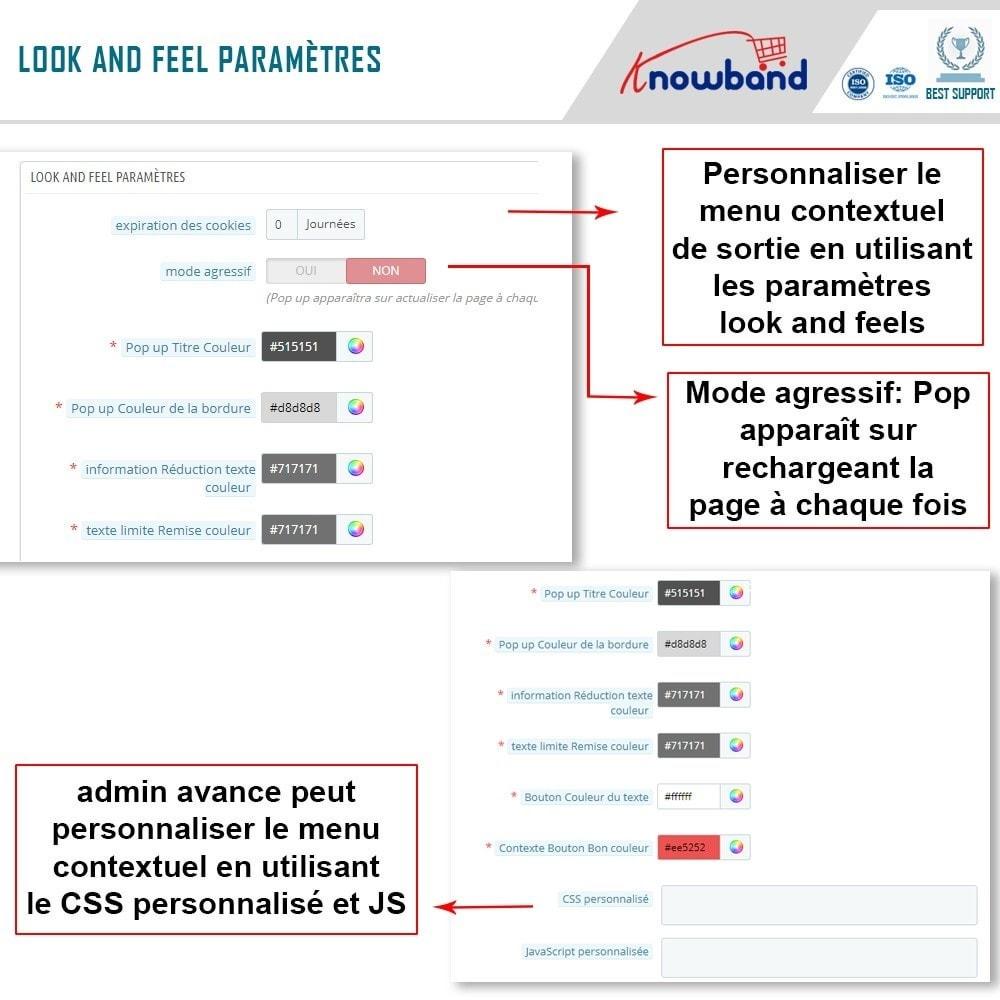 module - Remarketing & Paniers Abandonnés - Knowband - Pop-Up de Fermeture - 4