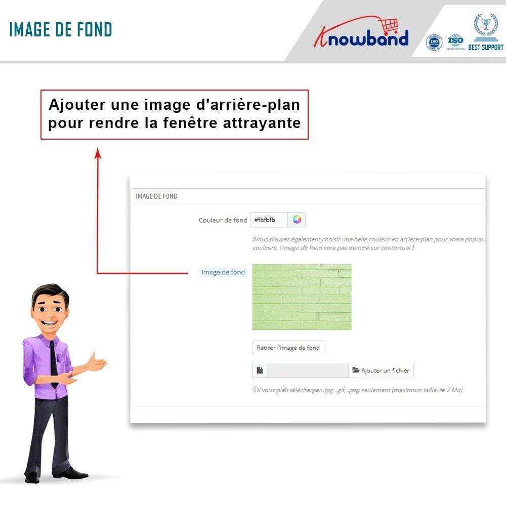 module - Remarketing & Paniers Abandonnés - Knowband - Pop-Up de Fermeture - 6