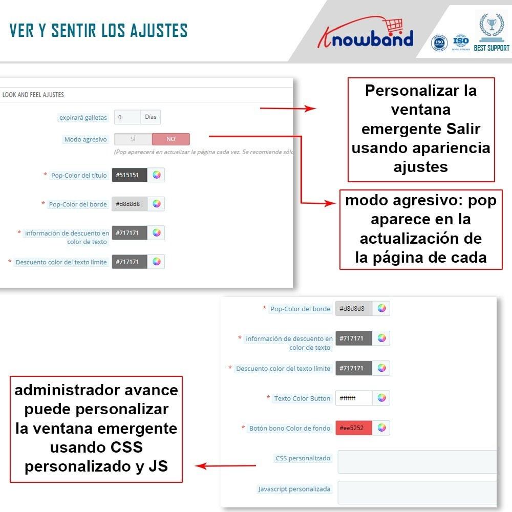 module - Remarketing y Carritos abandonados - Knowband - Módulo de Salida Emergente - 4