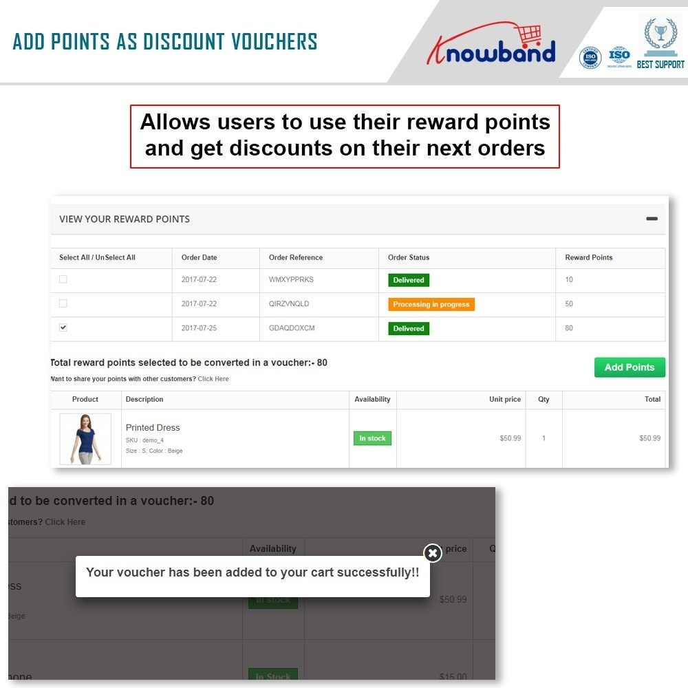module - Programmi fedeltà & Affiliazione - Knowband - Punti premio - 4