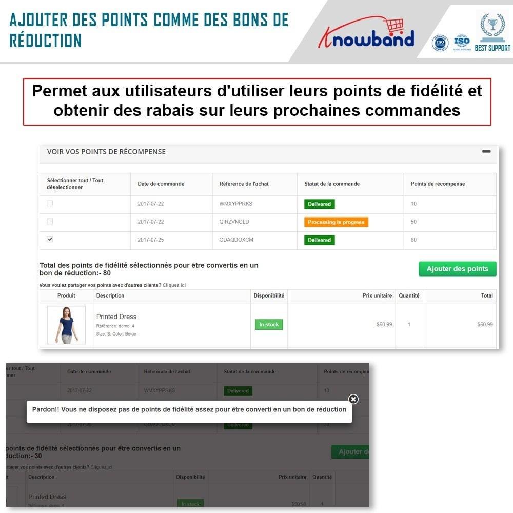 module - Fidélisation & Parrainage - Knowband - Points de Fidélité - 4