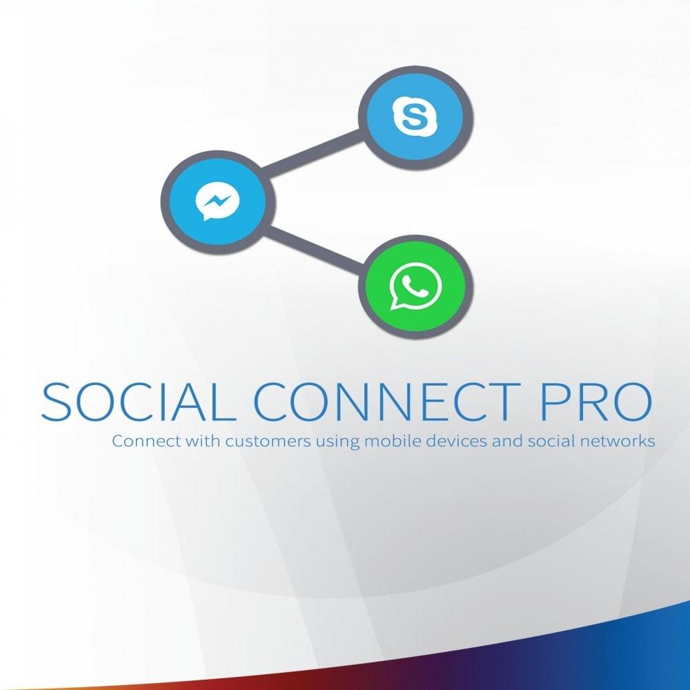 module - Asistencia & Chat online - Social Connect Pro - Fancy Social, llamada y SMS Botón - 1