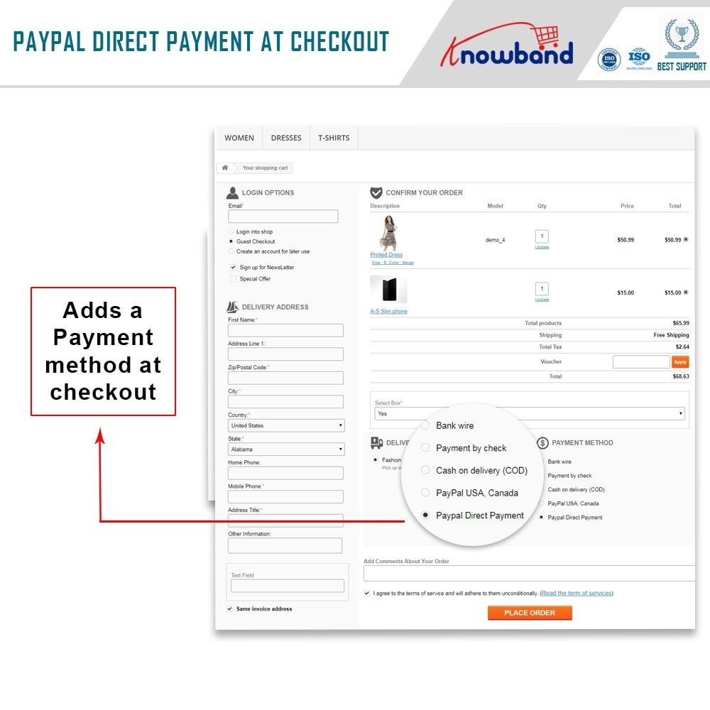 module - Creditcardbetaling of Walletbetaling - Knowband - Paypal Direct Payment - 3