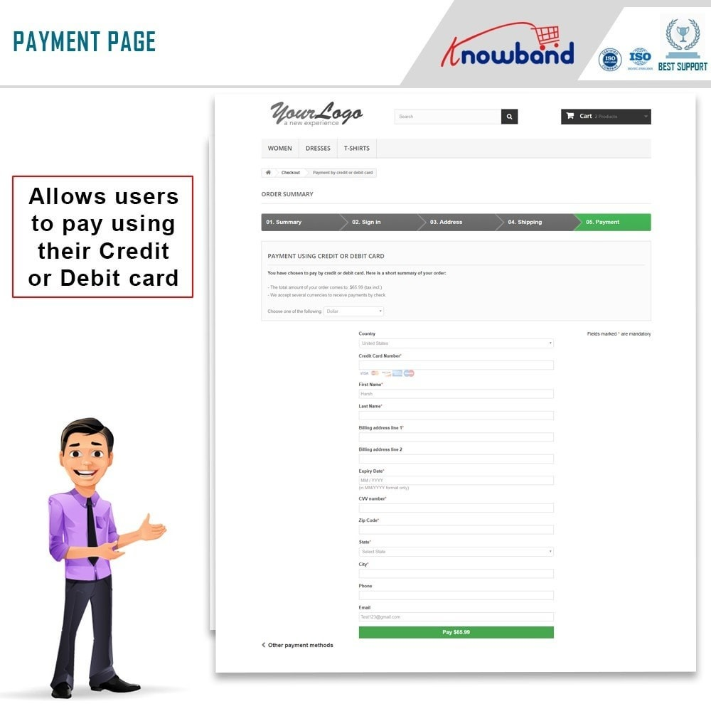 module - Creditcardbetaling of Walletbetaling - Knowband - Paypal Direct Payment - 4