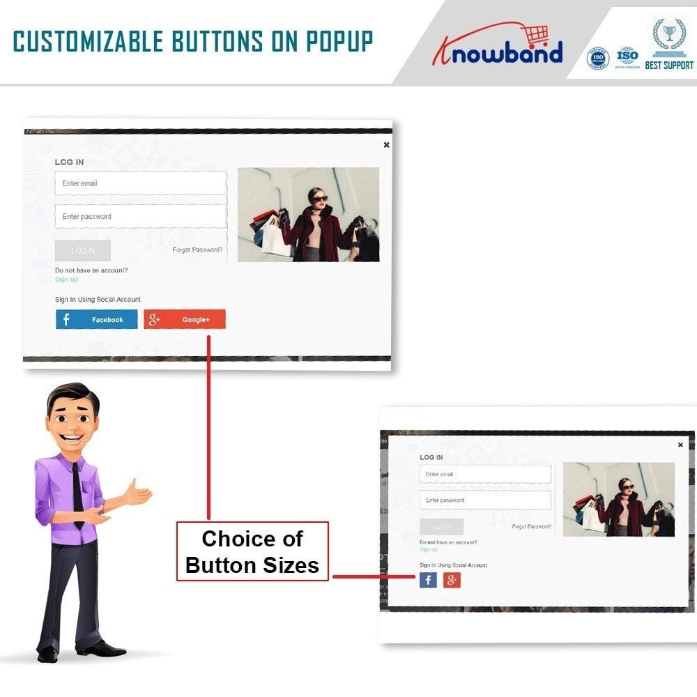 module - Social Login & Connect - Knowband - Quick Login Popup (with Social Login) - 3