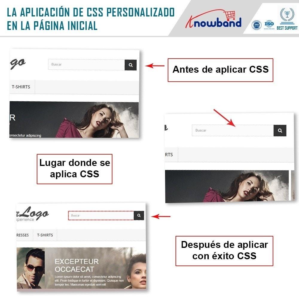 module - Personalización de la página - Knowband - CSS y JS personalizados - 2