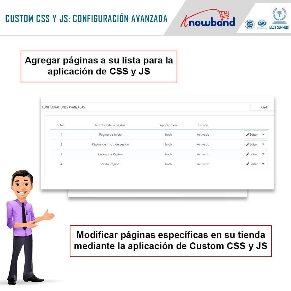module - Personalización de la página - Knowband - CSS y JS personalizados - 5