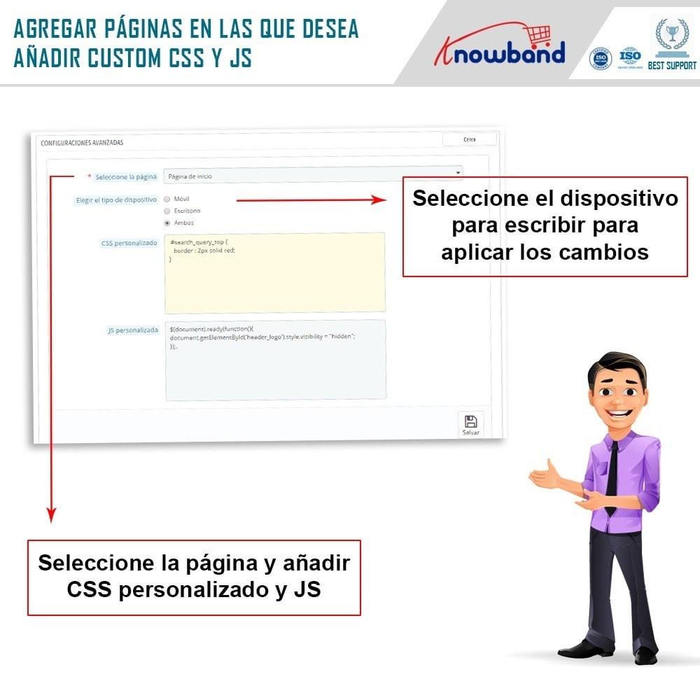 module - Personalización de la página - Knowband - CSS y JS personalizados - 6