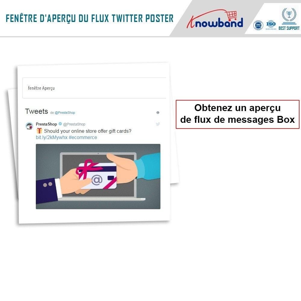 module - Widgets réseaux sociaux - Knowband - Flux de Posts Twitter - 6