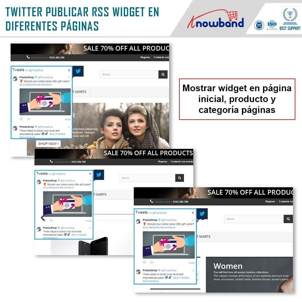module - Widgets para redes sociales - Knowband - Publicaciones de Twitter - 3