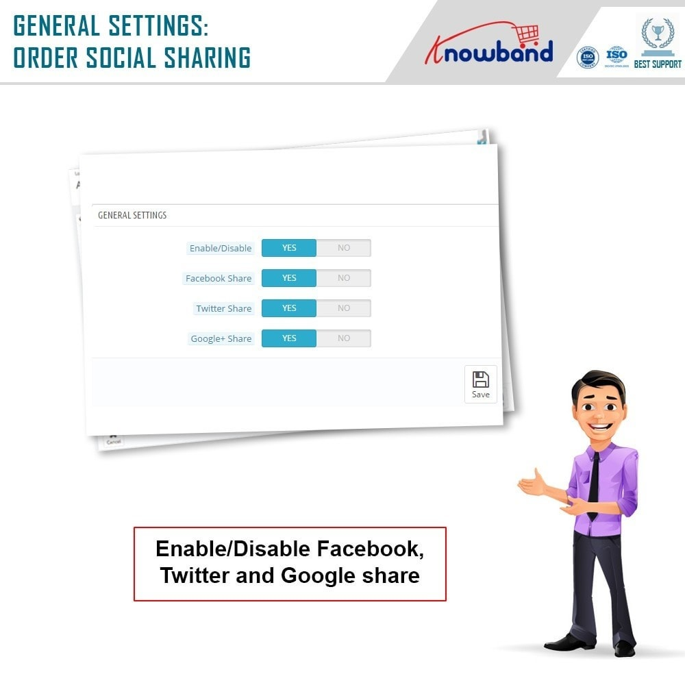 module - Share Buttons & Comments - Knowband - Order Social Sharing - 7
