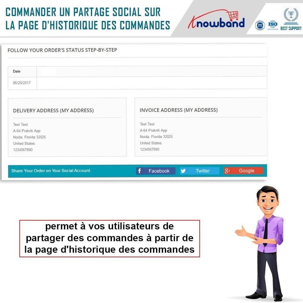 module - Boutons de Partage & Commentaires - Knowband -Partage des Commandes sur les Réseaux Sociaux - 3