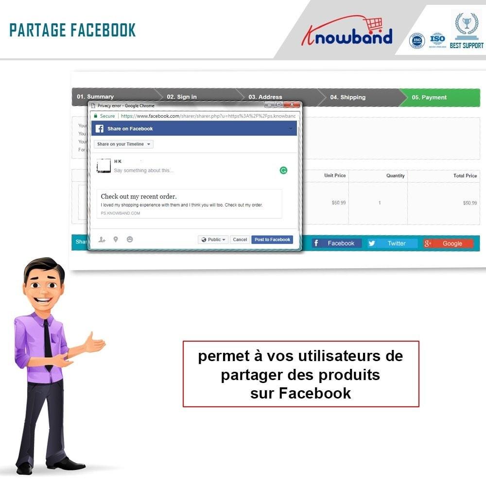 module - Boutons de Partage & Commentaires - Knowband -Partage des Commandes sur les Réseaux Sociaux - 4