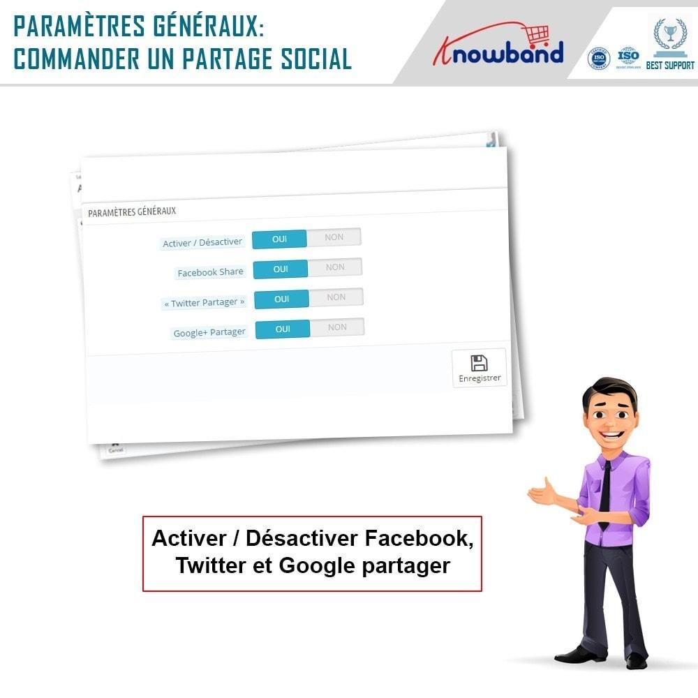 module - Boutons de Partage & Commentaires - Knowband -Partage des Commandes sur les Réseaux Sociaux - 7