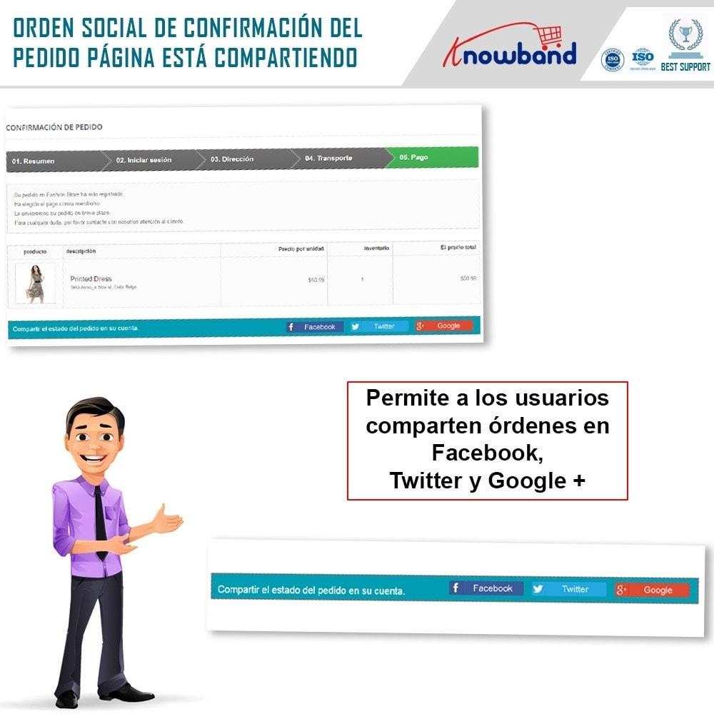 module - Compartir contenidos y Comentarios - Knowband - Compartir Pedidos en Redes Sociales - 2