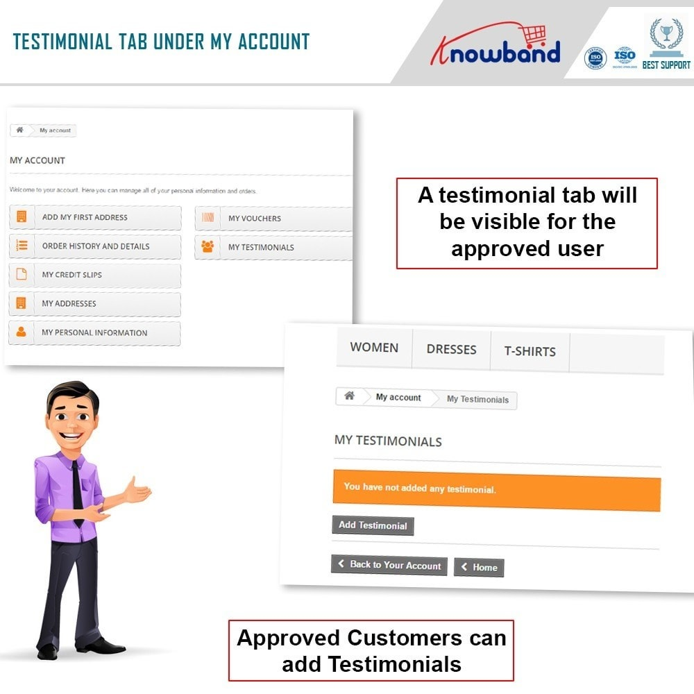 module - Opinie klientów - Knowband - Website Testimonial - 2