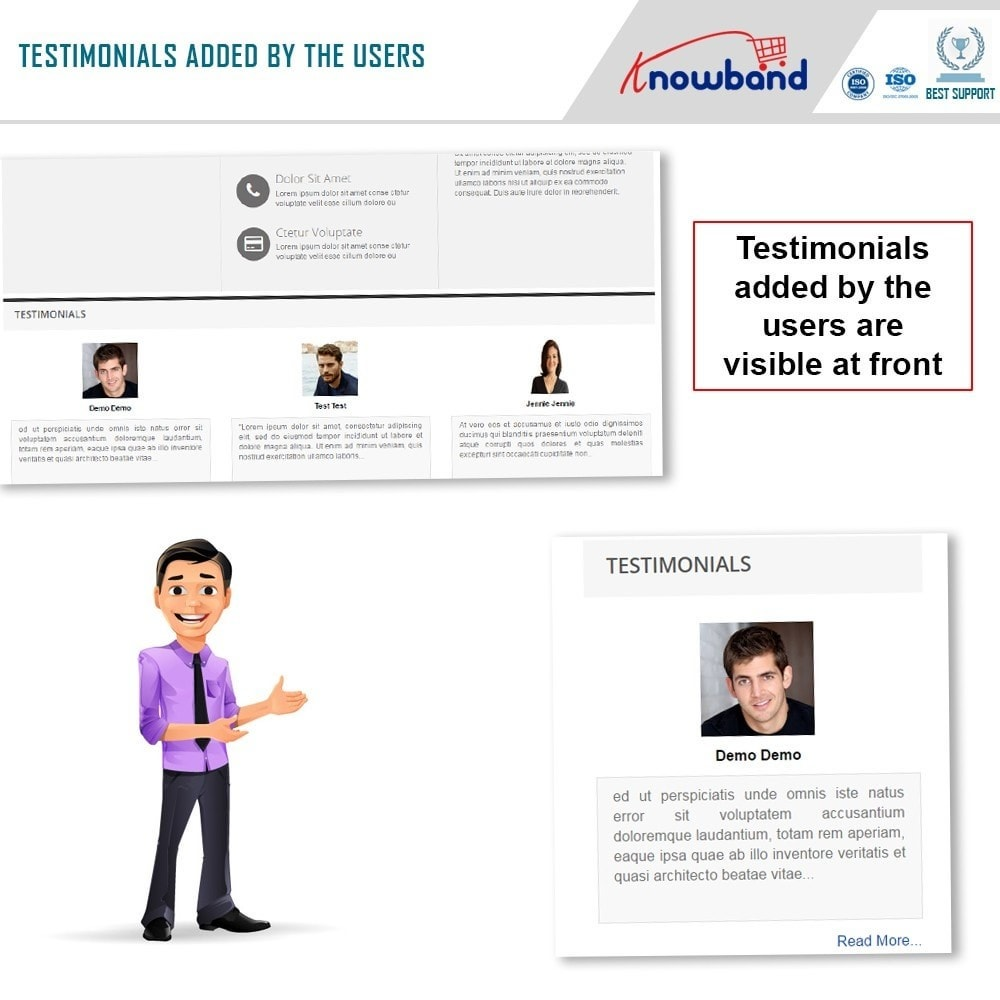 module - Recensioni clienti - Knowband - Website Testimonial - 4