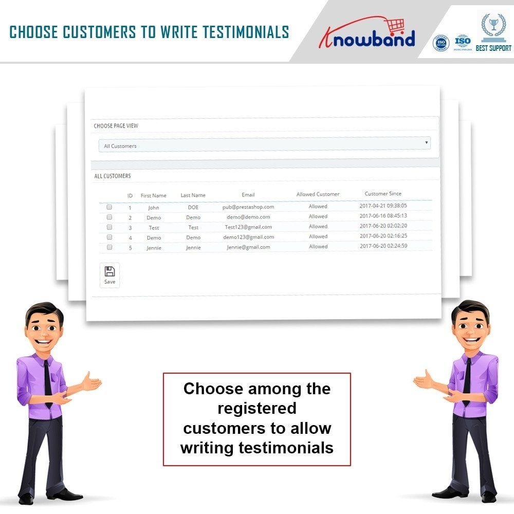 module - Customer Reviews - Knowband - Website Testimonial - 7