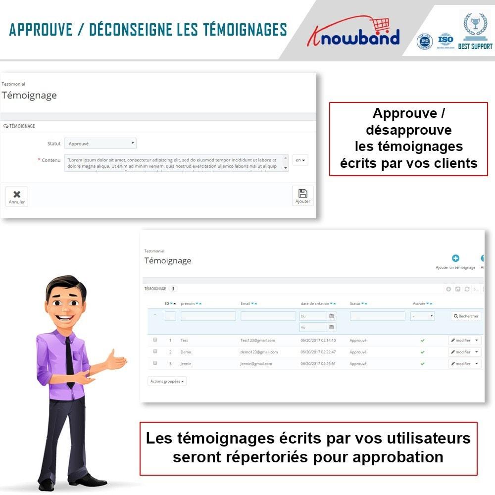 module - Avis clients - Knowband - Témognages sur le Site - 6