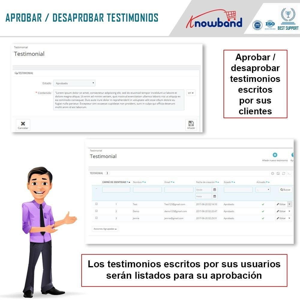 module - Comentarios de clientes - Knowband - Testimonios - 6