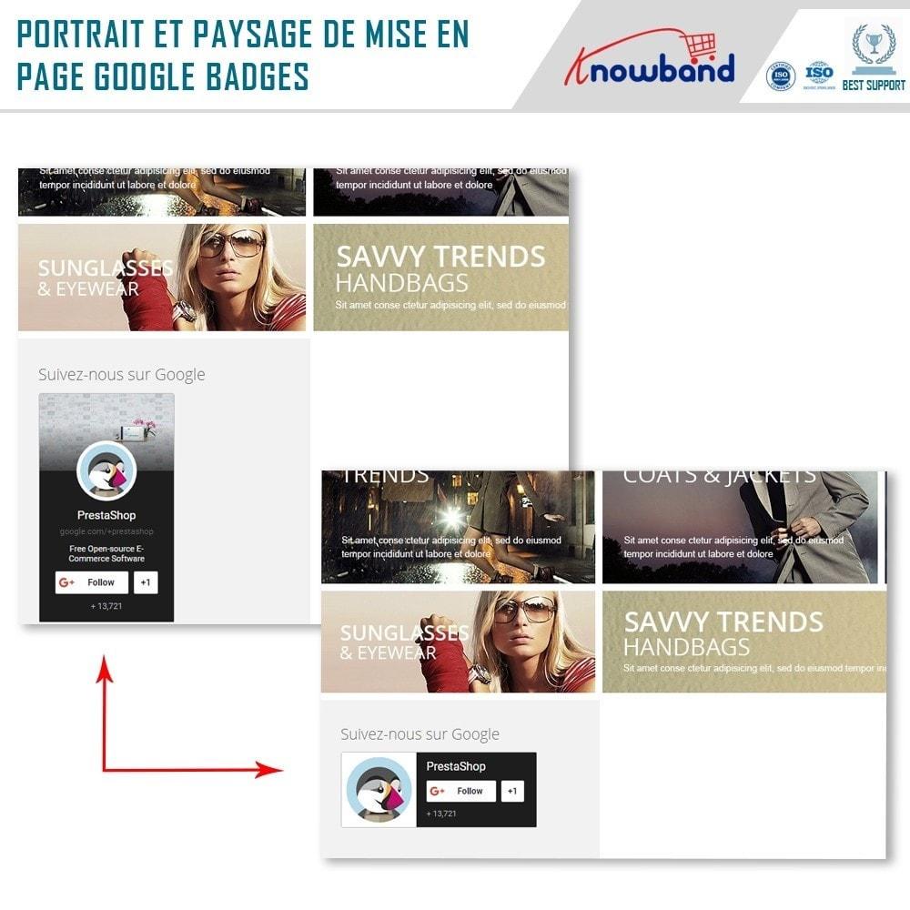 module - Widgets réseaux sociaux - Knowband - Badge Google Plus - 2
