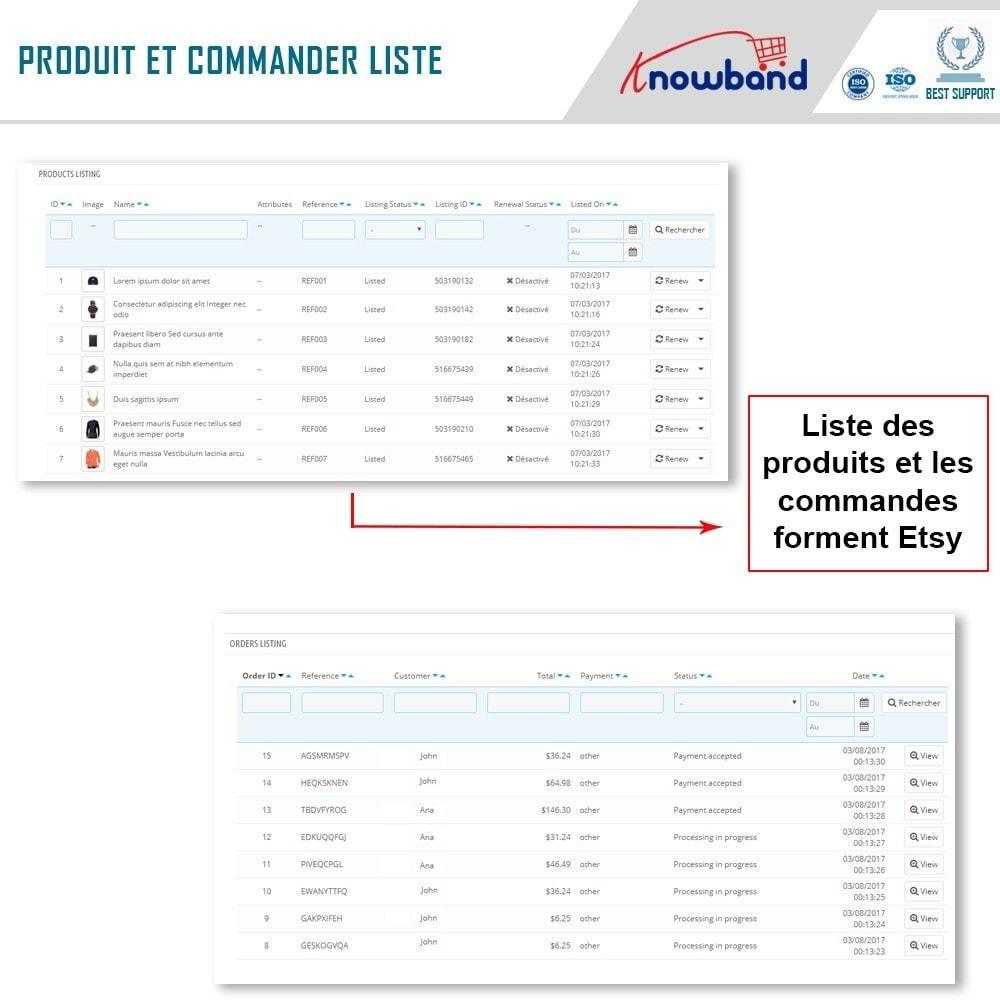 module - Marketplaces - Intégration de la Marketplace Etsy - 7