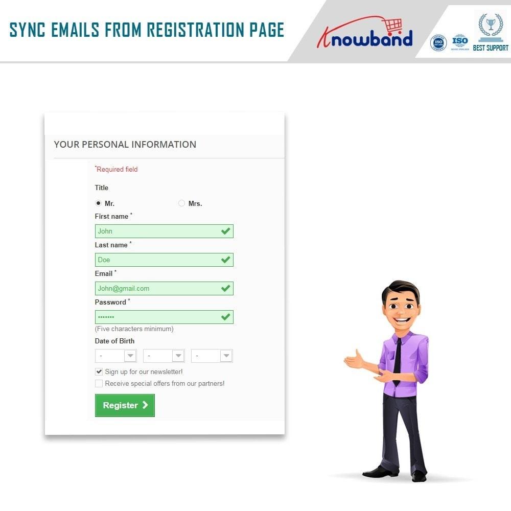 module - Newsletter & SMS - Knowband - Integrator per Mailigen e MailChimp - 3