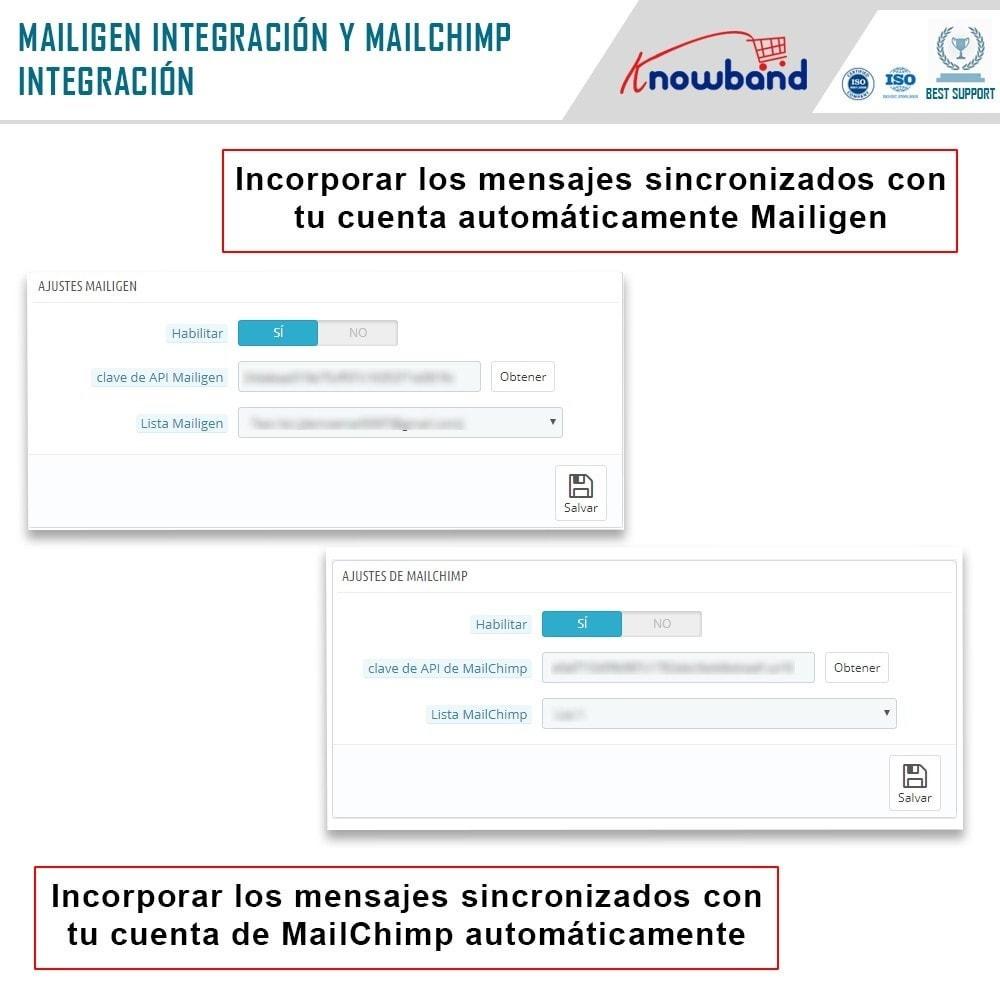 module - Newsletter y SMS - Knowband - Integrador Mailigen y MailChimp - 6