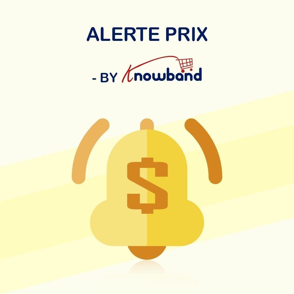module - Gestion des Prix - Knowband - Alerte de Prix - Notification des clients - 1