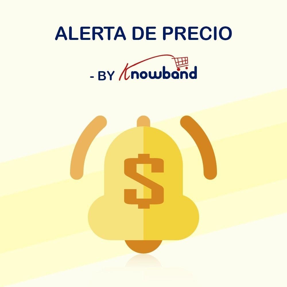 module - Gestión de Precios - Knowband - Alerta de precio - Notificar a los clientes - 1