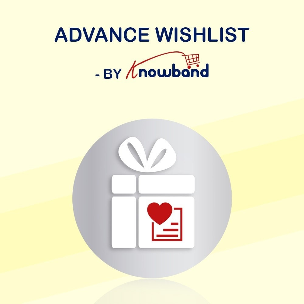 module - Wunschzettel & Geschenkkarte - Knowband - Prestashop Advanced Wishlist/Save For Later - 1