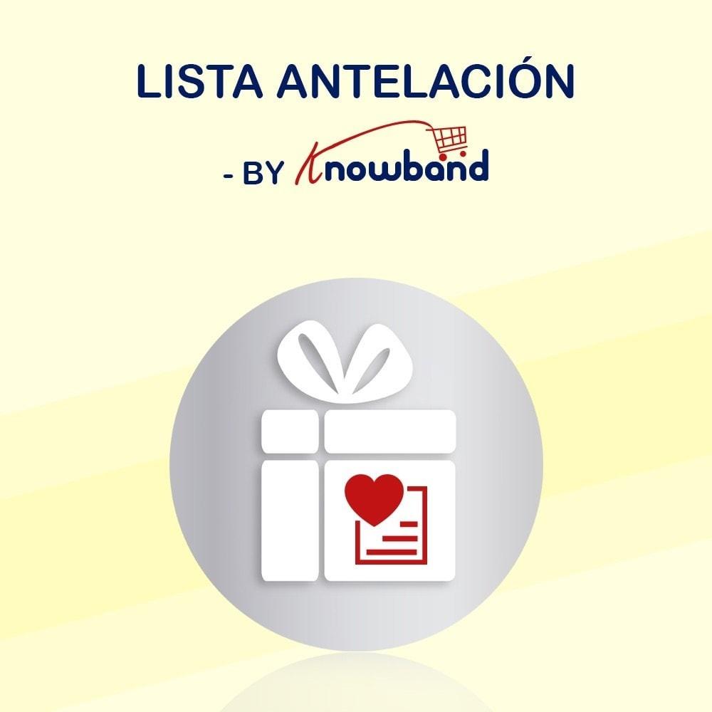 module - Lista de deseos y Tarjeta regalo - Knowband - Lista de Deseos Adelantada - 1