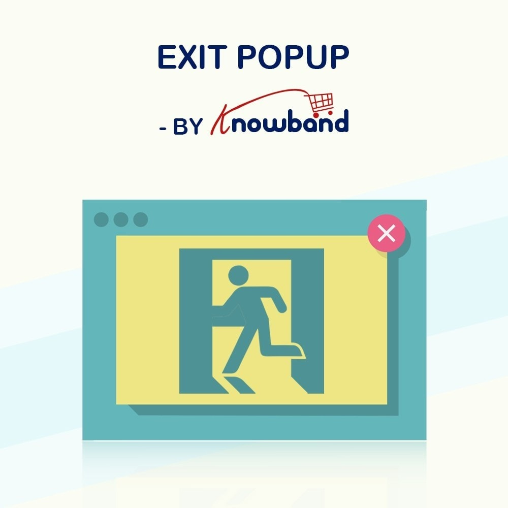 module - Перенаправление и Брошенные корзины - Knowband - Exit Popup (Email Subscription) pop up - 1