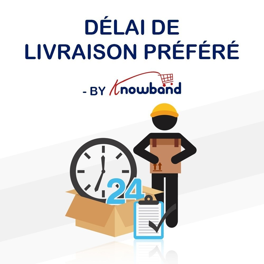 module - Date de livraison - Knowband - Horaire de Livraison Préféré - 1
