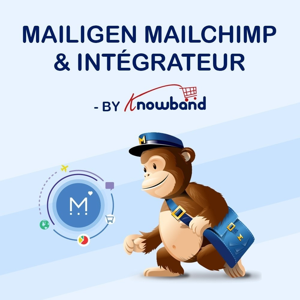module - Newsletter & SMS - Knowband - Intégrateur Mailigen et MailChimp - 1