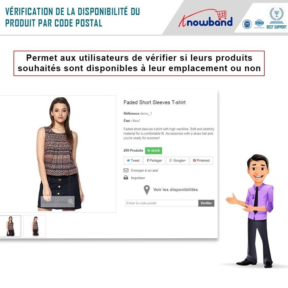 module - International & Localisation - Knowband - Disponibilité de produit par code postal - 2