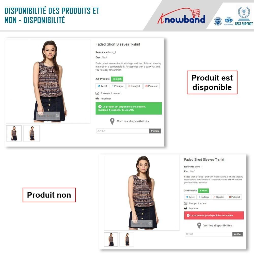 module - International & Localisation - Knowband - Disponibilité de produit par code postal - 3