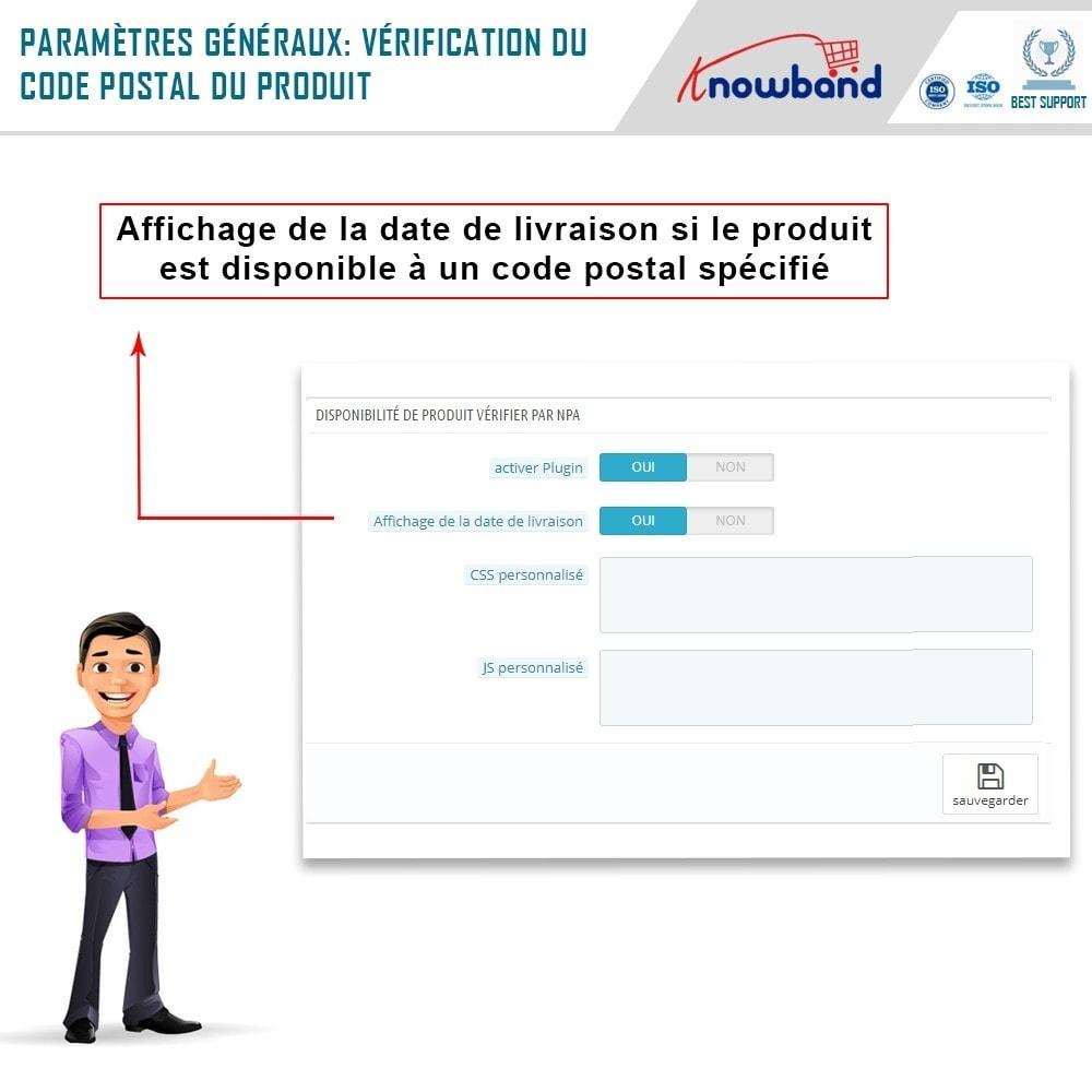 module - International & Localisation - Knowband - Disponibilité de produit par code postal - 4