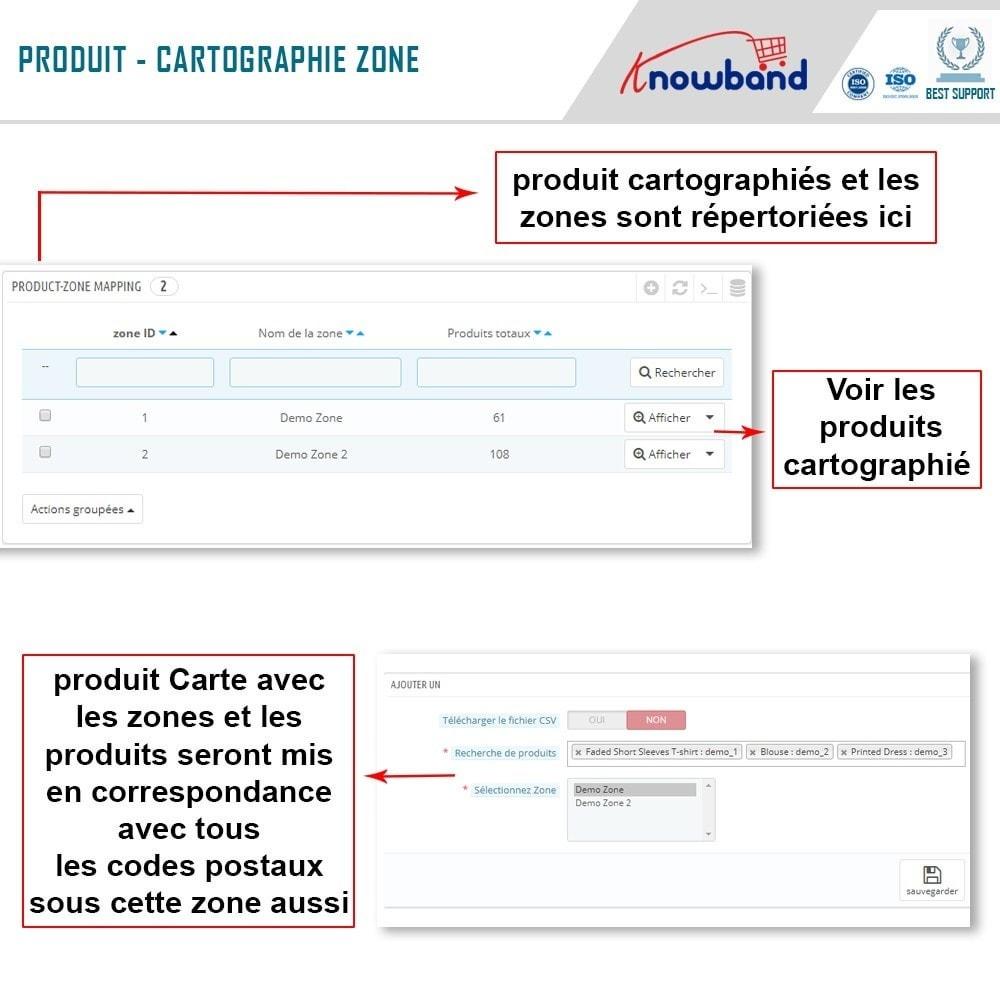 module - International & Localisation - Knowband - Disponibilité de produit par code postal - 7