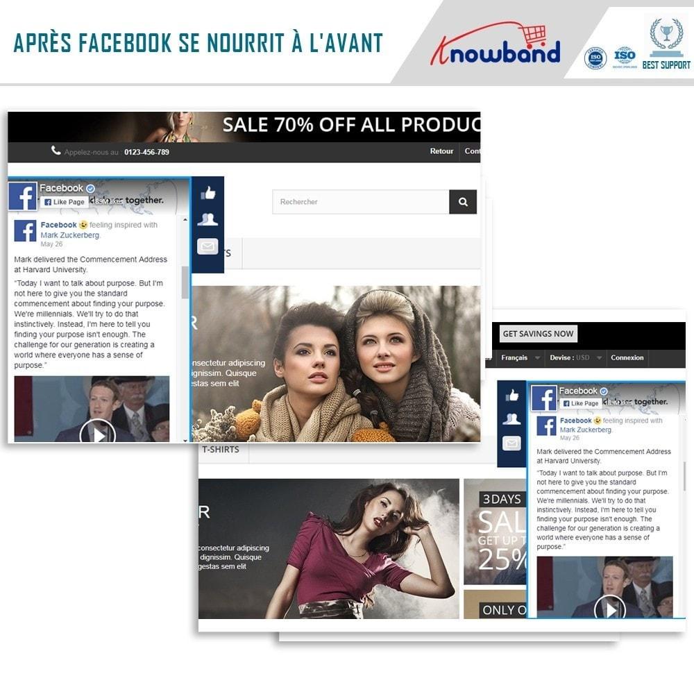 module - Widgets réseaux sociaux - Knowband - Flux de Posts - 2