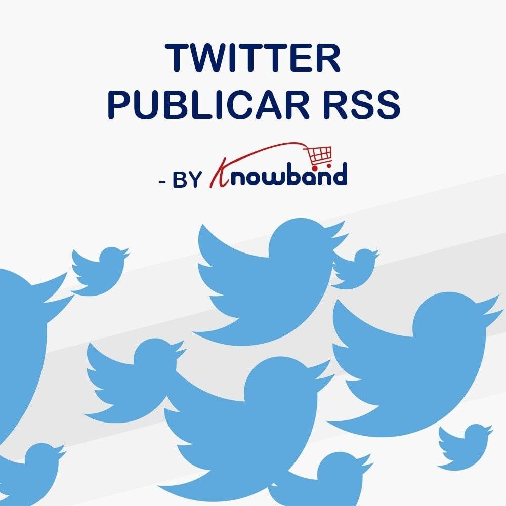 module - Widgets para redes sociales - Knowband - Publicaciones de Twitter - 1