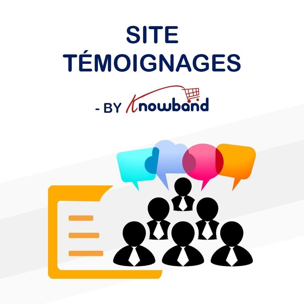 module - Avis clients - Knowband - Témognages sur le Site - 1