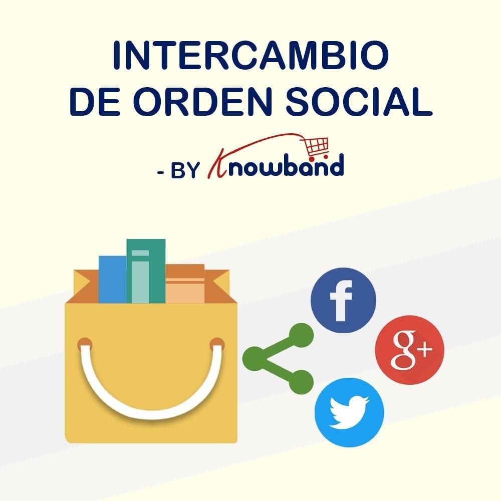 module - Compartir contenidos y Comentarios - Knowband - Compartir Pedidos en Redes Sociales - 1