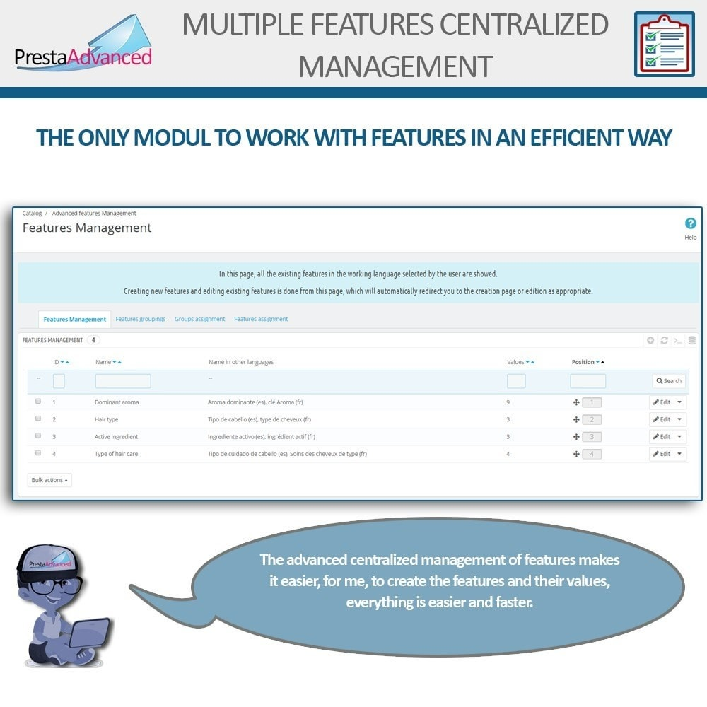 module - Snelle & seriematige bewerking - Features: Centralized Advanced Management - 3