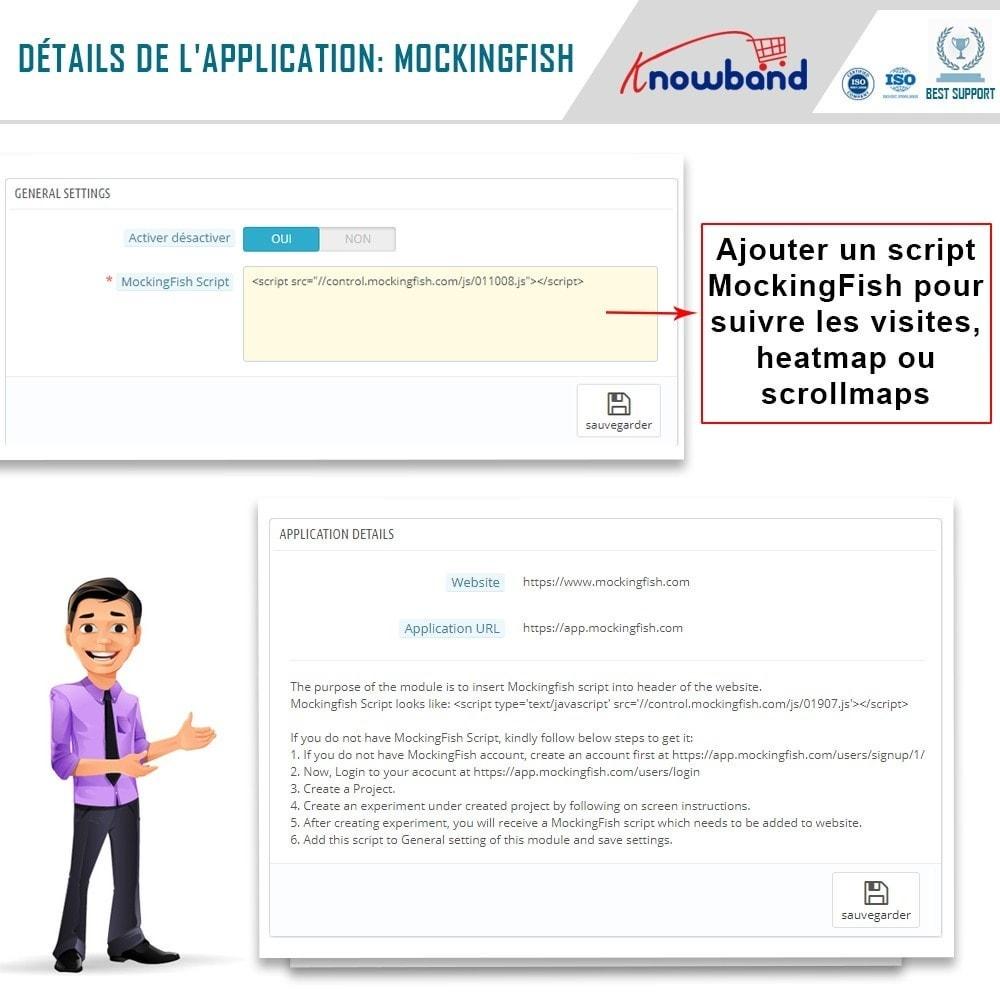 module - Analyses & Statistiques - Knowband - MockingFish, Heatmap et A / B Testing - 5